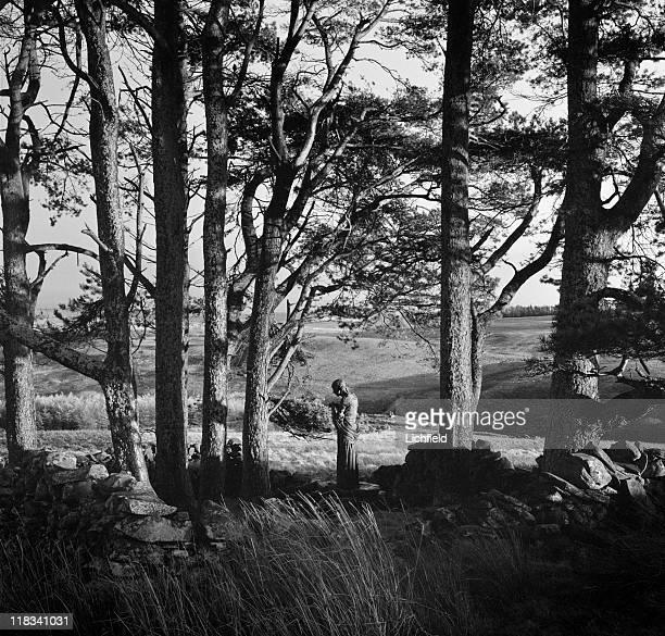 Visitation Statue by Sir Jacob Epstein Glenkiln Sculpture Trail Dumfries and Galloway Scotland 20th November 1963