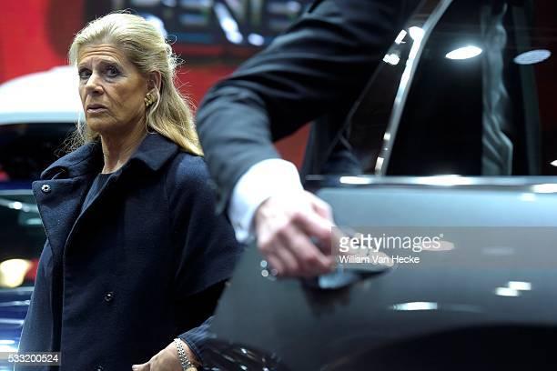 Visite de la Princesse Lea veuve du Prince Alexandre au 94ième European Motor Show Brussels Bezoek van Prinses Lea aan de 94ste European Motor Show...