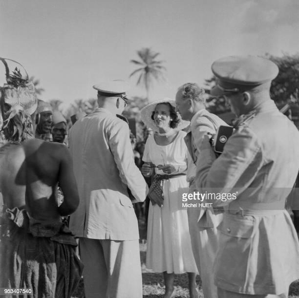 Visite de Léopold III et Lilian Baels à Isiro circa 1950 République démocratique du Congo