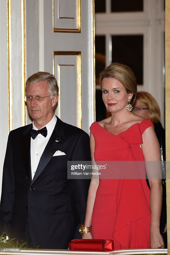 Belgian official dinner during the state visit of the Belgian Sovereigns to Poland / 14-10 -15 : News Photo