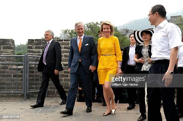 Visite d'Etat du Roi Philippe et de la Reine Mathilde en République Populaire de Chine Staatsbezoek van Koning Filip en Koningin Mathilde aan de...