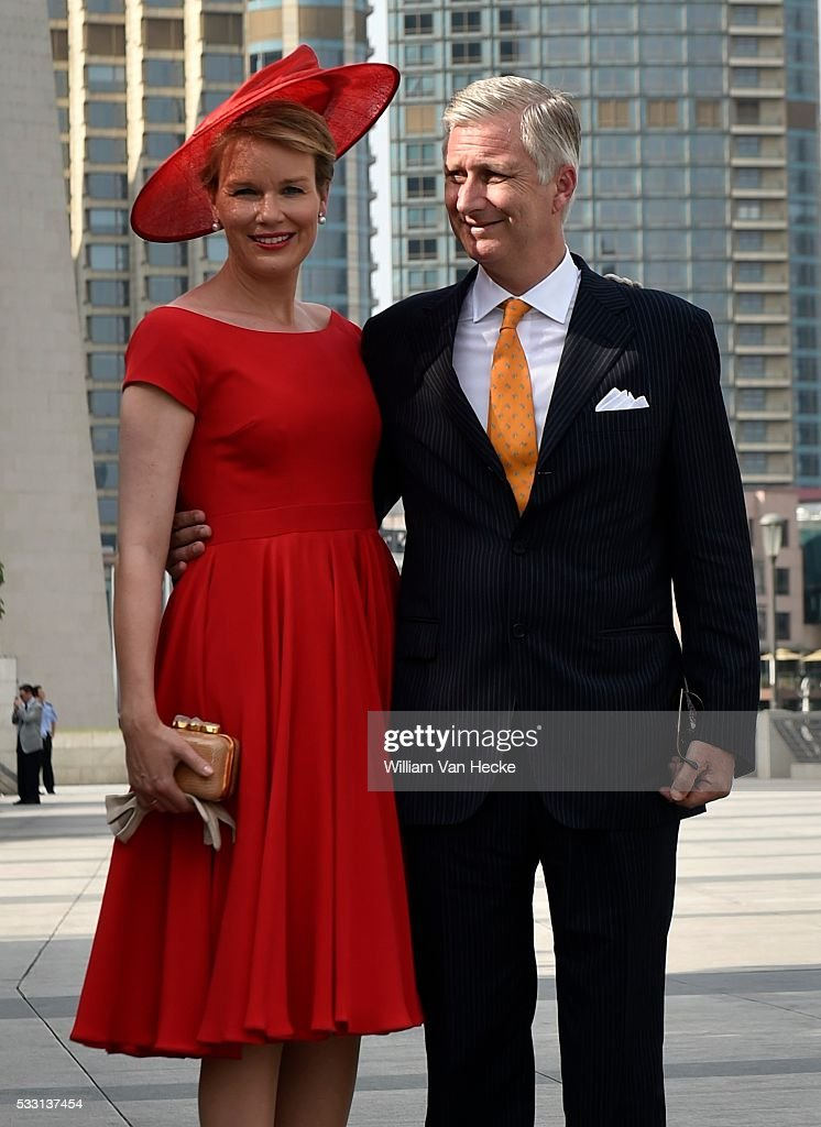 State visit of the Belgian Sovereigns to China / 25.6 : News Photo