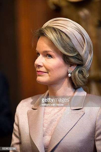 Visite d'état de Joachim Gauck Président de la République fédérale d'Allemagne et Mme Daniela Schadt City Hall Antwerp Staatsbezoek van Joachim Gauck...