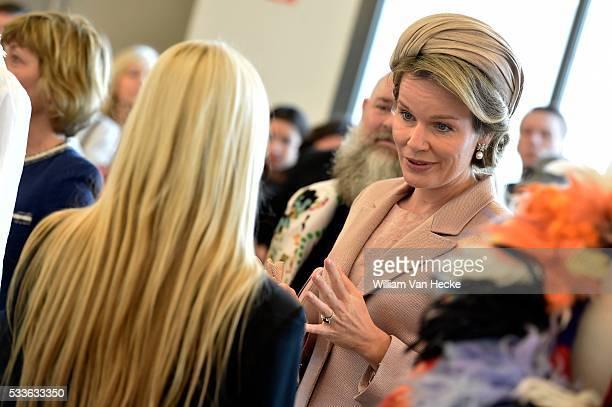 Visite d'état de Joachim Gauck Président de la République fédérale d'Allemagne et Mme Daniela Schadt bezoek van Mevr Schadt en Koningin Mathilde aan...