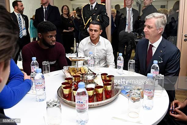 Visite d'état de Joachim Gauck Président de la République fédérale d'Allemagne et Mme Daniela Schadt visite de la maison de jeunes ROJM de Malines...