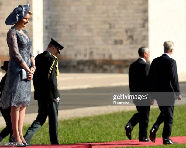 Visite d'état du Roi Philippe et de la Reine Mathilde au Portugal Staatsbezoek van Koning Filip en Koningin Mathilde aan Portugal * Ceremonial...