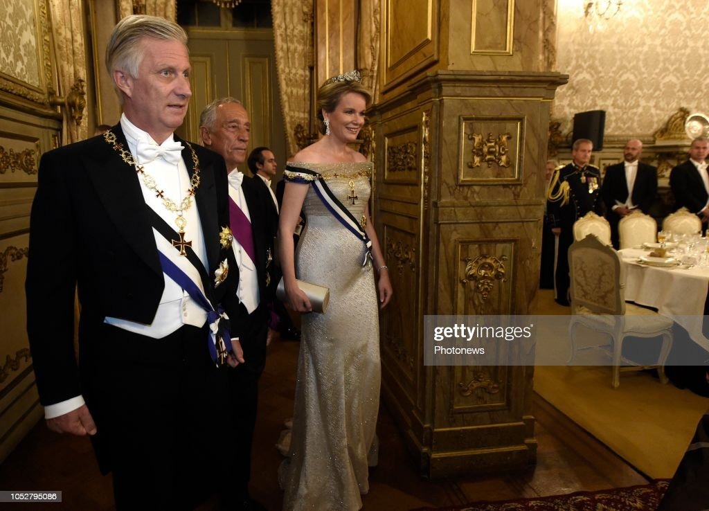 State visit of Belgian Sovereigns to Portugal (State Banquet ) / 22.10 : News Photo