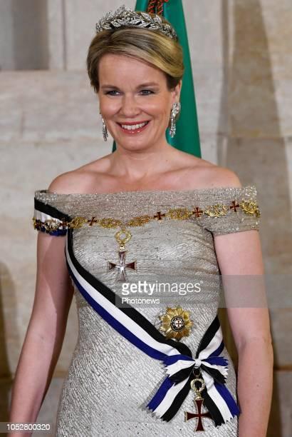 Visite d'état du Roi Philippe et de la Reine Mathilde au Portugal Staatsbezoek van Koning Filip en Koningin Mathilde aan Portugal * State banquet...