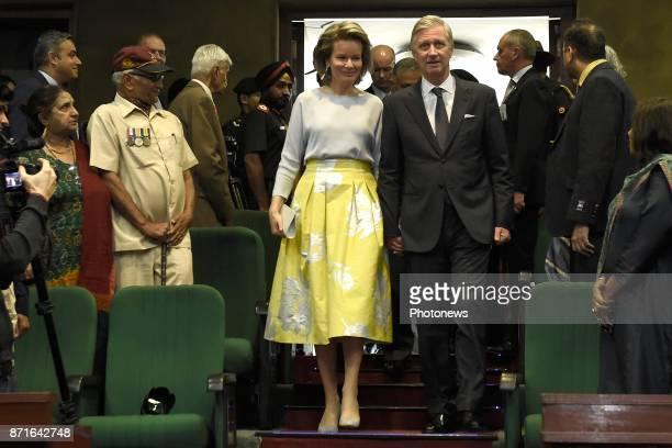 Visite d'état du Roi Philippe et de la Reine Mathilde des Belges en Inde Staatsbezoek van Koning Filip en Koningin Mathilde aan India * India and...