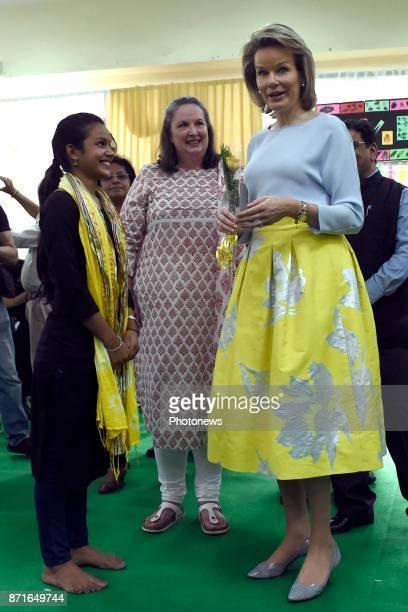 Visite d'état du Roi Philippe et de la Reine Mathilde des Belges en Inde Staatsbezoek van Koning Filip en Koningin Mathilde aan India Women...