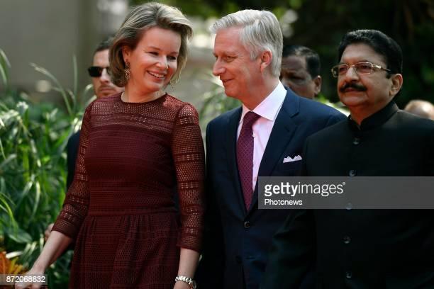 Visite d'état du Roi Philippe et de la Reine Mathilde des Belges en Inde Staatsbezoek van Koning Filip en Koningin Mathilde aan India * Call on the...