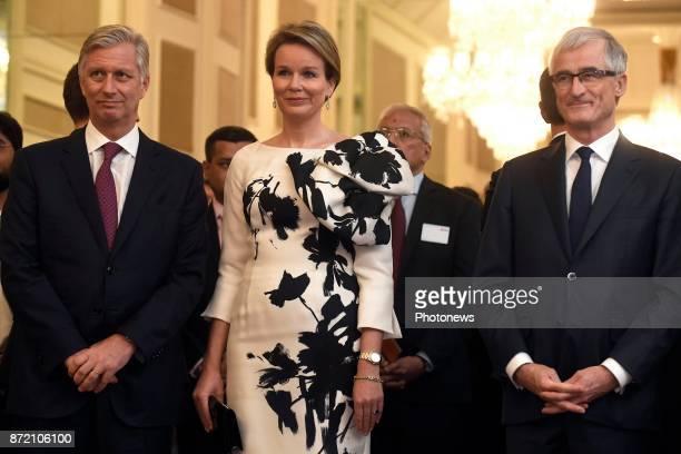 Visite d'état du Roi Philippe et de la Reine Mathilde des Belges en Inde Staatsbezoek van Koning Filip en Koningin Mathilde aan India * Reception of...
