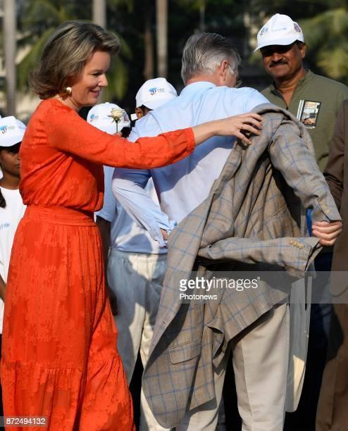 Visite d'état du Roi Philippe et de la Reine Mathilde des Belges en Inde Staatsbezoek van Koning Filip en Koningin Mathilde aan India * Visit of the...