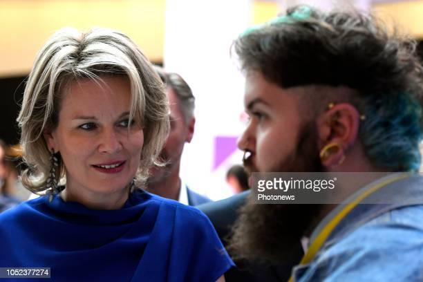 Visite du salon YouthStart Entrepreneurial Day par la Reine Mathilde Bezoek van de Koningin Mathilde aan de YouthStart Entrepreneurial Day pict by...