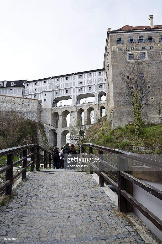 Visiting Česky Krumlov Castle Europe : Stock Photo