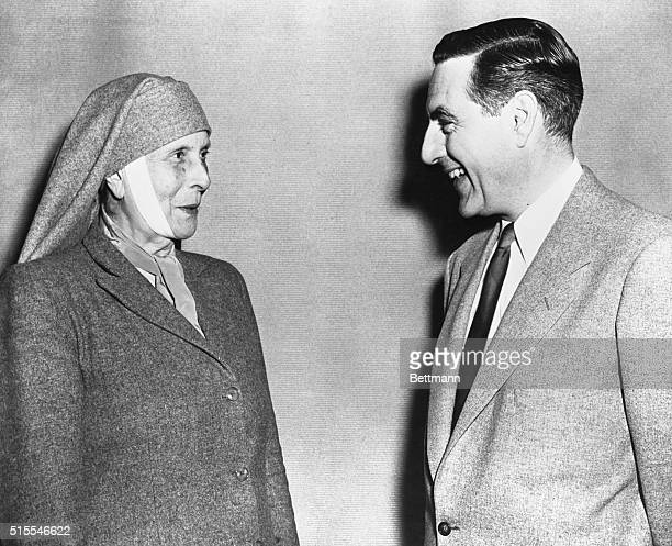 Visiting America on behalf of her Sisterhood of Martha and Mary child-care charity in Athens, witnesses her first television broadcast as a guest of...