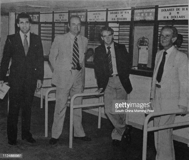 **FILE** Visiting Australian bookmakers TonyHarris Norm McLachlan John Houston and Ron Woodbridge pictured at the Taipa trotting complex during...