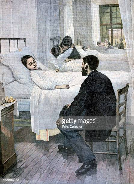 'Visiting Day at the Hospital' 1893 A print from the Le Petit Journal 13th June 1893