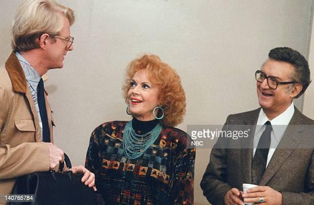 ST ELSEWHERE Visiting Daze Episode 14 Pictured Ed Begley Jr as Dr Victor Ehrlich Jayne Meadows as Olga Osoranski Steve Allen as Lech Osoranski Photo...