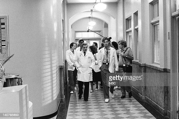 ST ELSEWHERE Visiting Daze Episode 14 Pictured William Daniels as Dr Mark Craig Bruce Greenwood as Dr Seth Griffin Photo by Jack Hamilton/NBCU Photo...