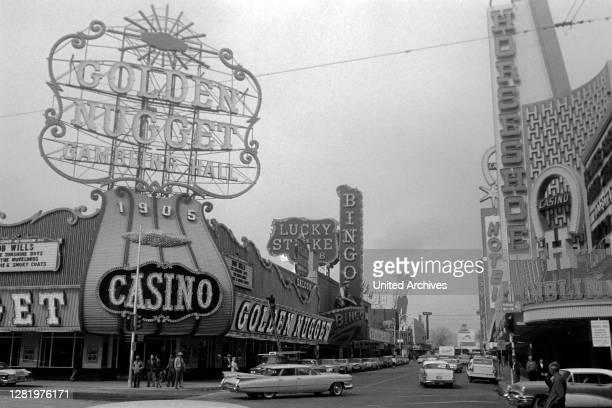 Visiting Las Vegas, 1962.