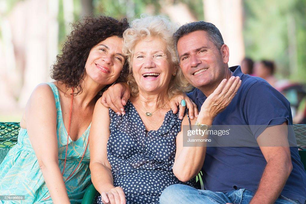 Visiting mom : Stock Photo