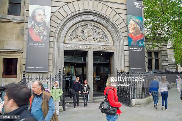 visiting national portrait gallery - national portrait gallery london stock pictures, royalty-free photos & images