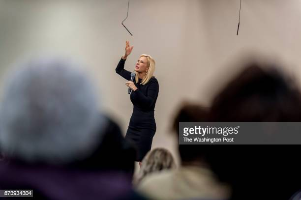 Visiting Pastor Paula White a Pentecostal Christian televangelist gives a sermon before the congregation at Hope Christian Church on July 29 2017 in...