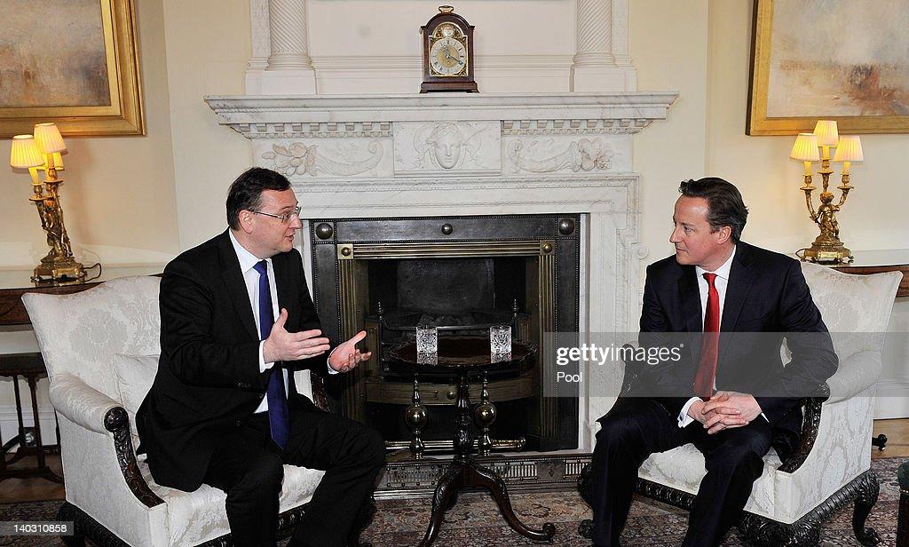Czech Prime Minister Petr Necas Visits London