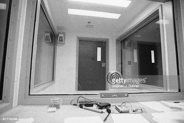 **EXCLUSIVE** A visiting room at the Federal ADX Supermax prison in Florence Colorado August 30 1999 The Unabomber Ted Kaczynski is an inmate at the...