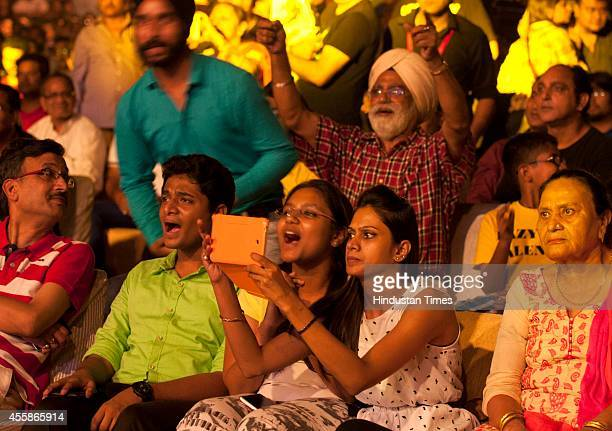 Visitiors during a musical concert of Bollywood singer Mika Singh as a part of Hindustan Timess Noida and Ghaziabad first initiative on September 20...