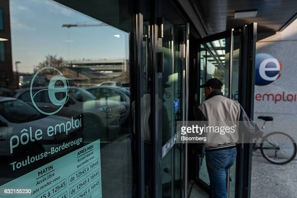 A visitor arrives at a Pole Emploi national employment agency in Toulouse France on Thursday Jan 19 2017 Joblessness will be one of the main topics...