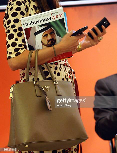 A visitor attends the Qatar Business and Investment Forum 2013 on April 16 2013 in Berlin Germany Through its oil and gas revenue which have allowed...