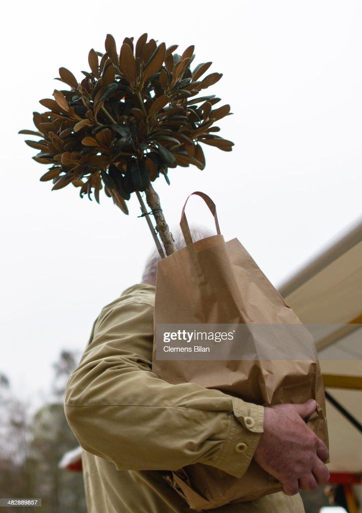 Botanical Gardens Host Gardening Market : News Photo