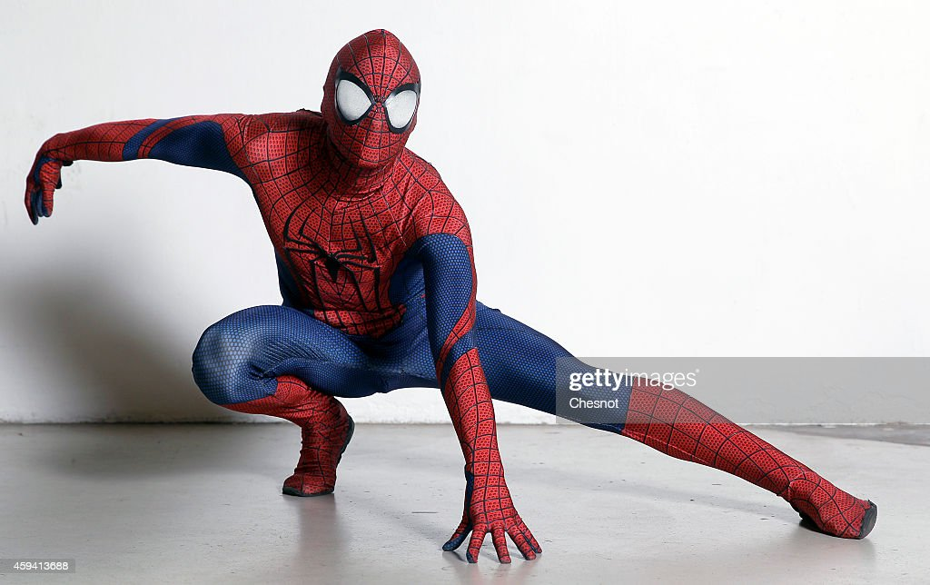 A Visitor Dressed Costume Of Character Spiderman Poses During The News Photo Getty Images