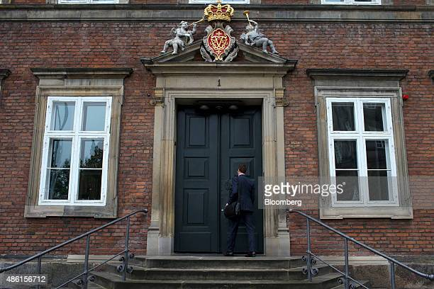 A visitor enters the Danish Ministry of Finance building in Copenhagen Denmark on Tuesday Sept 1 2015 'There are no areas' of the budget 'that wont...