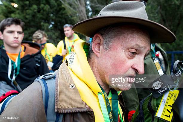 A visitor from Australia looks exhausted after a long walk to Lone Pine Commonwealth War Graves Commission Cemetery on the 100th anniversary of the...