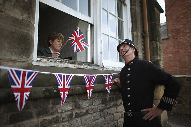 Visitor Guides PC World And School Teacher Mrs Griffths Begin Preparing The Streets Of Black