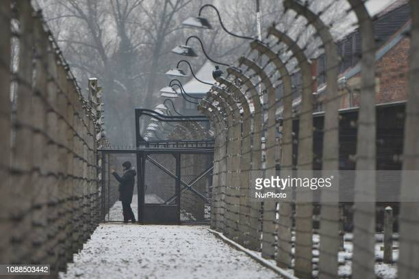 A visitor inside Auschwitz I Hundreds of visitors arrives to Auschwitz Birkenau II a German Nazi concentration and extermination camp just two days...