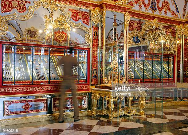 A visitor is seen in the Jewel Room at the historic Green Vault in Dresden Germany Tuesday August 29 2006 Dresden's Historic Green Vault the treasure...