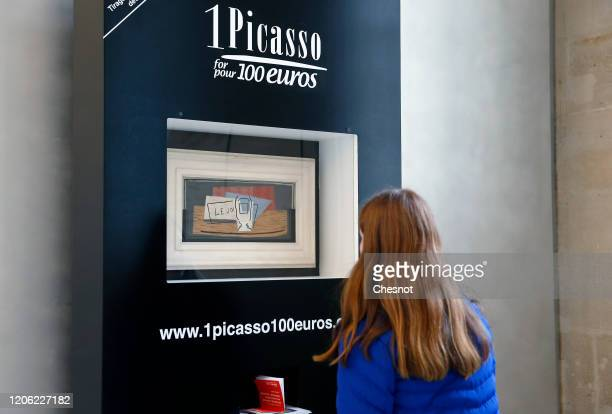 A visitor looks at a painting entitled Still life by Spanish artist Pablo Picasso at Picasso museum on February 14 in Paris France A lottery will...