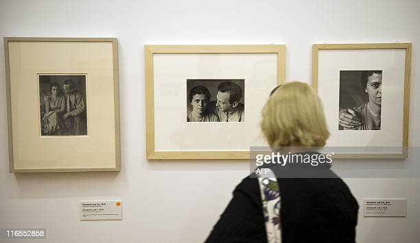 A visitor looks at Hungarianborn US photographer Andre Kertesz' Elizabeth and I series at the Kertesz retrospective at Berlin's MartinGropiusBau June...