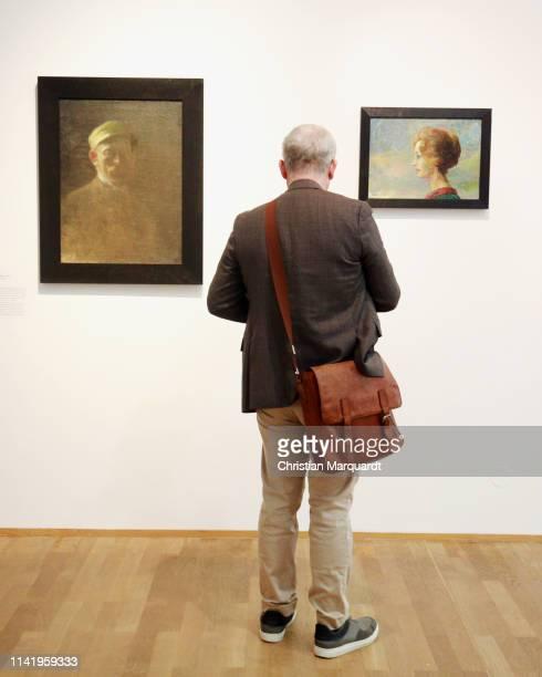 """Visitor looks at the artwork 'Ada' during the preview of the exhibition """"Emil Nolde - Eine deutsche Legende. Der Kuenstler im Nationalsozialismus"""" at..."""