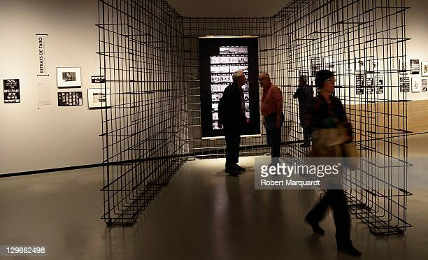 A visitor looks at 'The Mexican Suitcase' exhibition at the National Art Museum of Catalunya on October 19 2011 in Barcelona Spain The Exhibition...
