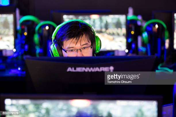 Visitor plays an online video game during the Tokyo Game Show 2017 at Makuhari Messe on September 21, 2017 in Chiba, Japan. The annual game show,...