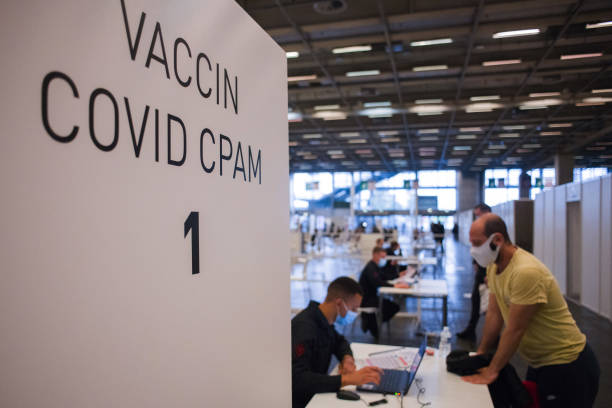 FRA: France Opens 'Vaccinodrome' at Porte de Versailles Expo Center