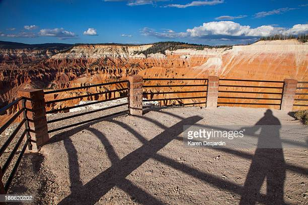 visitor silhouette, cedar breaks national monument - iron_county,_wisconsin stock pictures, royalty-free photos & images