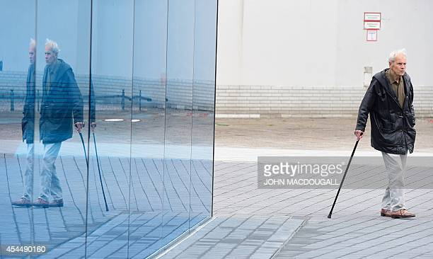 A visitor stands by the memorial to the victims of the Nazis' 'euthanasia' programme in Berlin on September 2 2014 prior to its official unveiling...