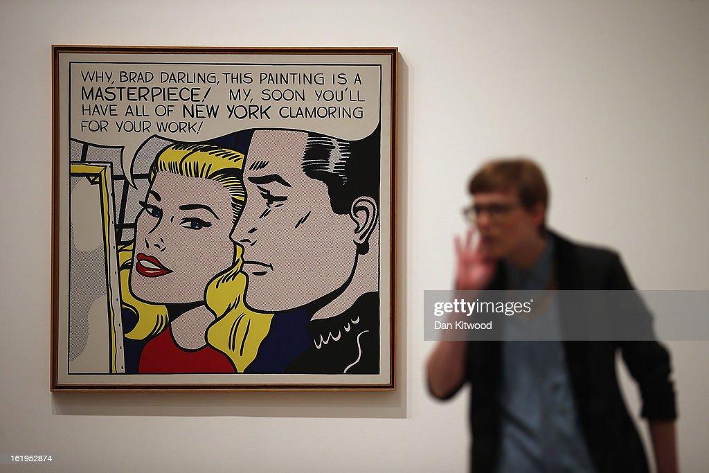 Press Preview For The Tate Modern's Lichtenstein: A Retrospective Exhibition : News Photo