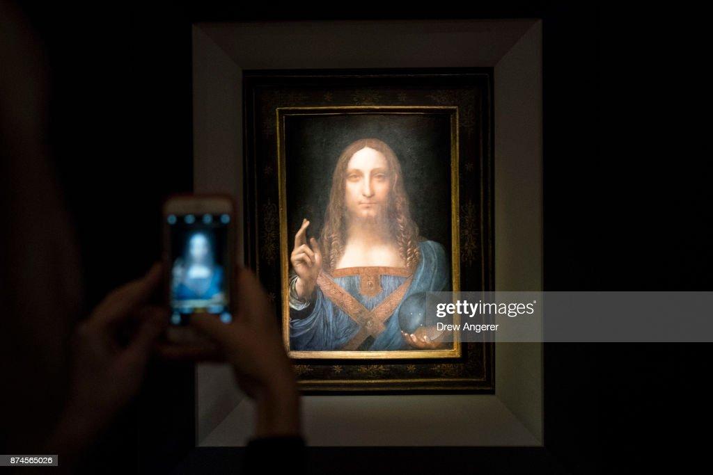 "Christie's To Auction Leonardo da Vinci's ""Salvator Mundi"" Painting : News Photo"